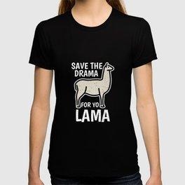 Lama LLama Alpaca Spit Girl Girl T-shirt