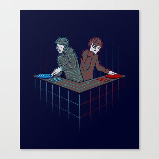 Techno-Tron-ic Canvas Print
