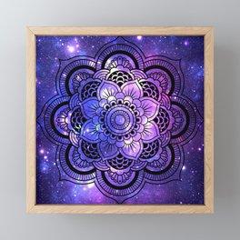 Mandala : Purple Blue Galaxy Framed Mini Art Print