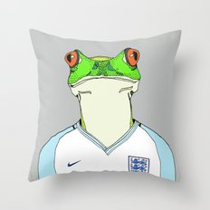 Football Frog Throw Pillow