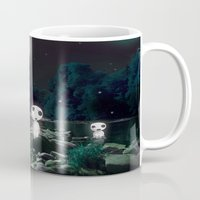kodama Mugs featuring Forest Spirits (Kodama)   by pkarnold + The Cult Print Shop