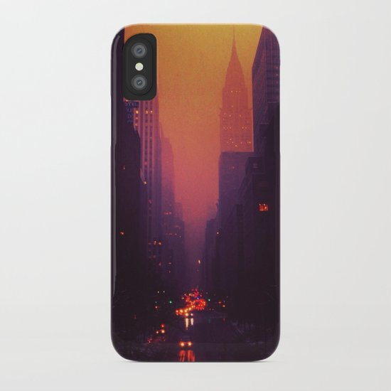 42nd Street, NYC - The Chrysler Building at Sunset iPhone Case