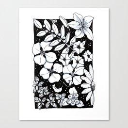 Floral Pen and Ink Sampler Canvas Print