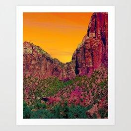 National Sunset Art Print