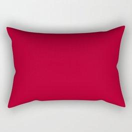 Red Dark Raspberry Solid Colour Palette Rectangular Pillow