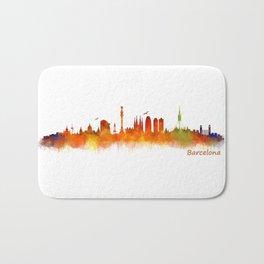 Barcelona City Skyline Hq _v2 Bath Mat