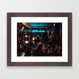 I fell in love here Framed Art Print