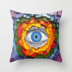 Rainbow Burn Throw Pillow