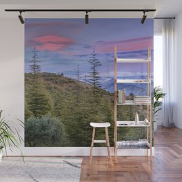 "Lenticular clouds over the mountains ""Mountain light"". Wall Mural"