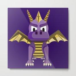 Spyro vector character fanart Metal Print