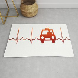 TAXI DRIVER HEARTBEAT Rug