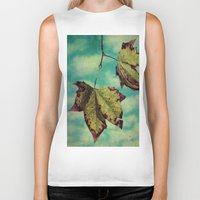 neverland Biker Tanks featuring Fall in Neverland by Honey Malek