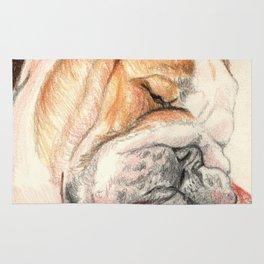 English bulldog Alfie Rug