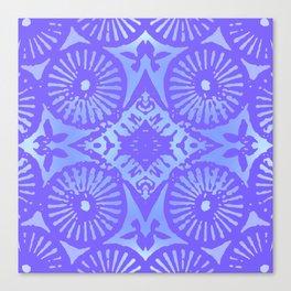 bowie: blue blue electric blue Canvas Print