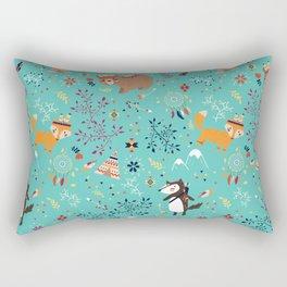 Tribal Adventure - mint Rectangular Pillow