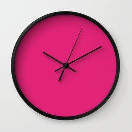 Deep Cerise Cubic Wall Clock