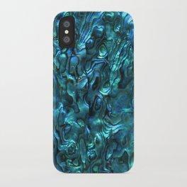 Abalone Shell | Paua Shell | Cyan Blue Tint iPhone Case