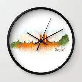 Bogota City Skyline Hq V3 Wall Clock