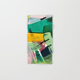 Hopeful[3] - a bright mixed media abstract piece Hand & Bath Towel