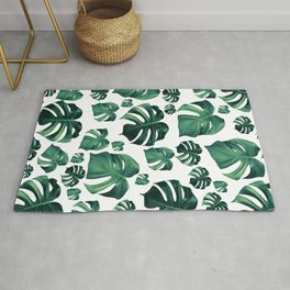 Tropical Monstera Pattern #3 #tropical #decor #art #society6 Rug