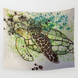 Hawksbill Sea Turtle Wall Tapestry