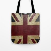 england Tote Bags featuring England Reisen by Fine2art