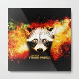 Galaxy Trash Panda Raccoon Metal Print