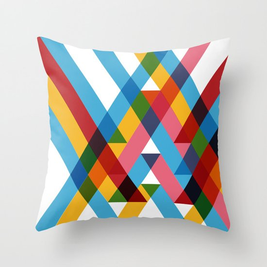 Ribbons Overlay ///www.pencilmeinstationery.com Throw Pillow