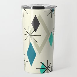 Mid Century Modern Diamonds Travel Mug