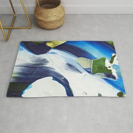 Abstraction - Piece of Blue - by LiliFlore Rug