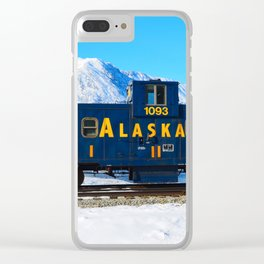 Caboose - Alaska Train Clear iPhone Case