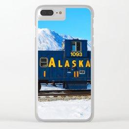 Caboose - Alaska Train Clear iPhone Case