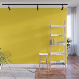 Solid Color Pantone Vibrant Yellow 13-0858 Wall Mural