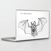 vagina Laptop & iPad Skins featuring Batgina by oozingsalt