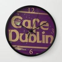 irish Wall Clocks featuring Irish Pub by Eirin Wie Haveland