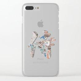 Samurai Kanji Clear iPhone Case