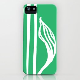 Long Leaf Stripe green iPhone Case