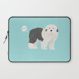 old english sheepdog farting dog cute funny dog gifts pure breed dogs Laptop Sleeve