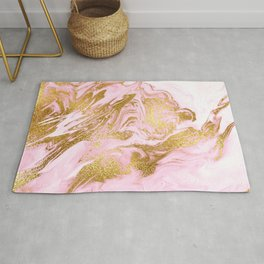Rose Gold Mermaid Marble Rug
