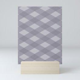 Pantone Lilac Gray Argyle Plaid Diamond Pattern Mini Art Print
