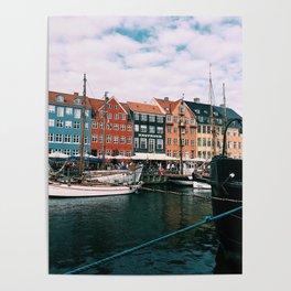 Nyhavn Copenhagen on a Late Summer Day Poster