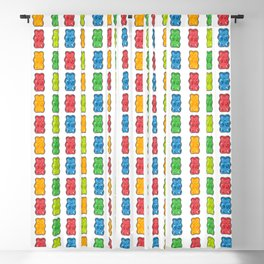Rainbow Gummy Bears Blackout Curtain