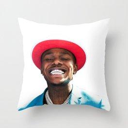 da baby head Throw Pillow