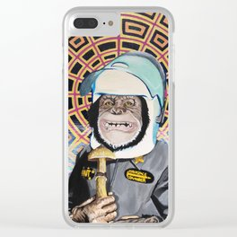 Stoned Ape Theory Clear iPhone Case