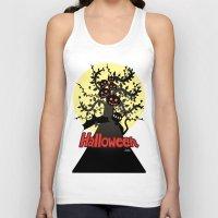 halloween Tank Tops featuring Halloween by BATKEI