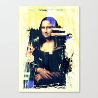 mona lisa Canvas Prints featuring mona lisa by manish mansinh