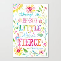 though she be but little Canvas Prints featuring Though She be but Little... by Grace Wolf