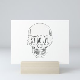 See No Evil Mini Art Print