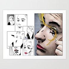 Makeup & Art Art Print