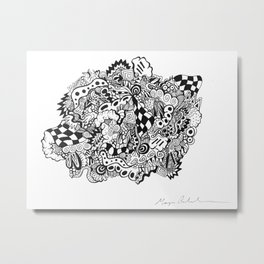 Creeper Blob Metal Print